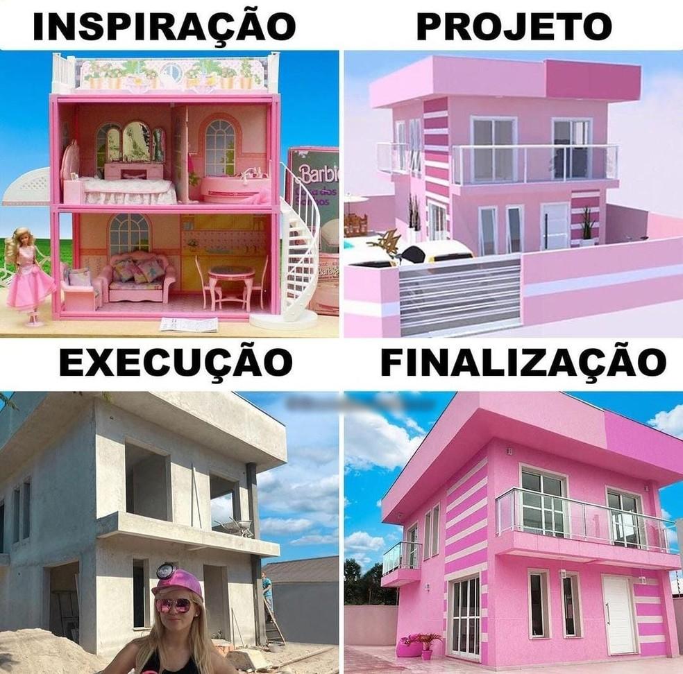 Inspiração para o projeto da casa da Bruna Barbie — Foto: Arquivo pessoal/Bruna Barbie
