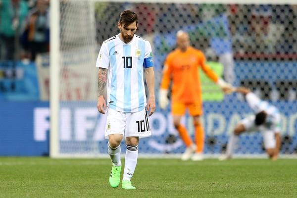 Lionel Messi na derrota de 3 a 0 da Argentina para a Croácia (Foto: Getty Images)