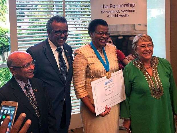 Bachelet substitui viúva de Mandela na Organização Mundial da Saúde