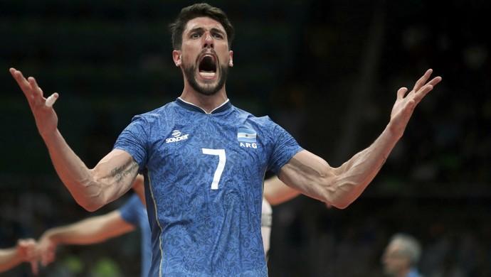 brasil, argentina, brasil x argentina, vôlei masculino, Facundo Conte (Foto: REUTERS/Ricardo Moraes)