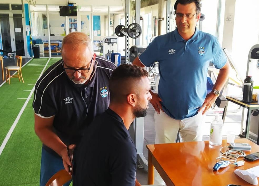 Médicos do Grêmio irão iniciar exames na segunda — Foto: Divulgação/Grêmio
