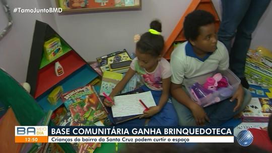 Brinquedoteca é inaugurada no bairro de Santa Cruz, em Salvador