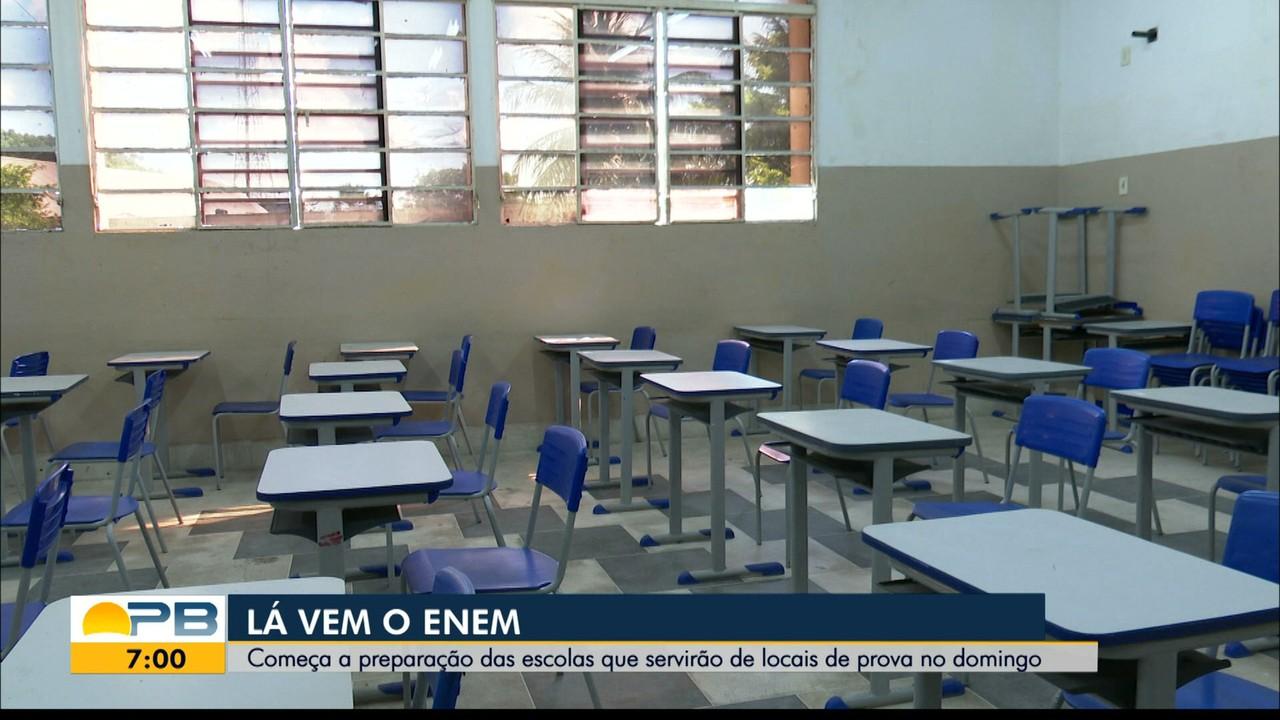 Escolas de João Pessoa se preparam para receber candidatos ao Enem