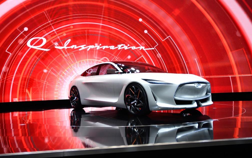 Q-Inspiration é o nome deste conceito da Infiniti, divisão de luxo da Nissan (Foto: Jose Juarez/AP)