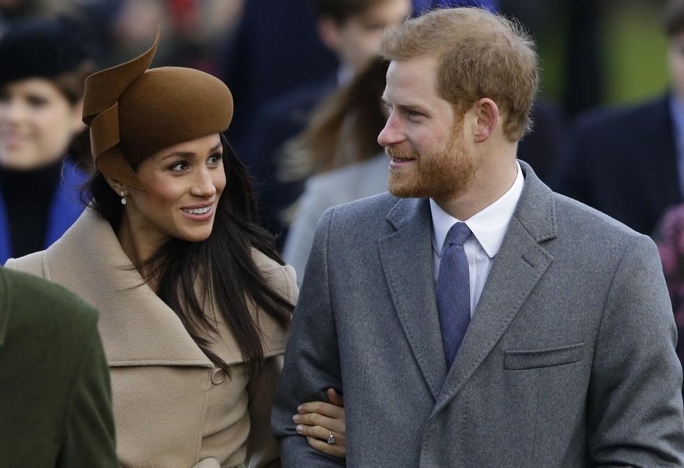 Meghan Markle e o noivo,  príncipe Harry, vão se casar em 19 de maio (Foto: AP Photo / Alastair Grant)