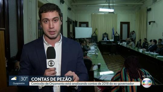 Comissão de Orçamento da Alerj examina as contas de 2018 do ex-governador Pezão