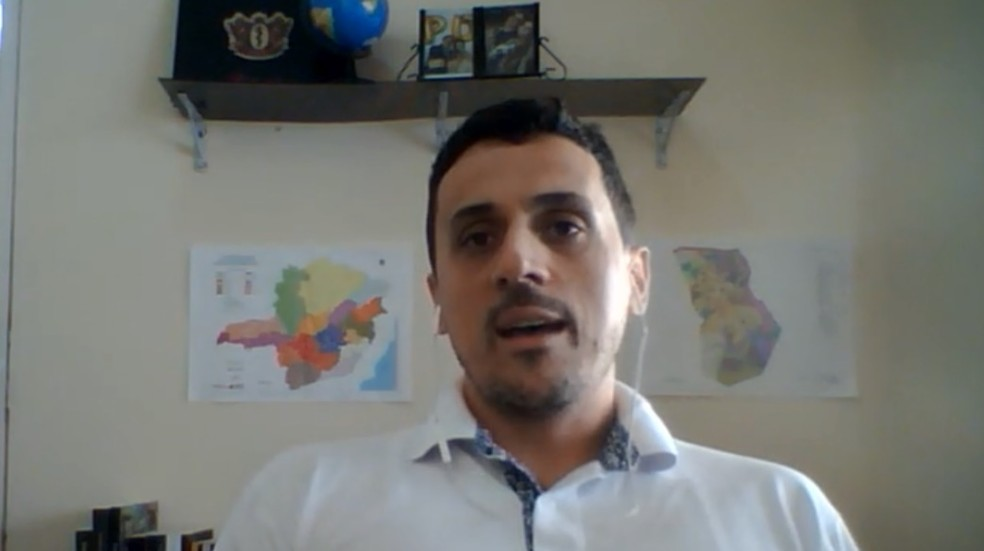 Professor Diego Alexandre Souza, criador da plataforma, diz que em breve ferramenta ajudará prefeituras — Foto: Reprodução/EPTV