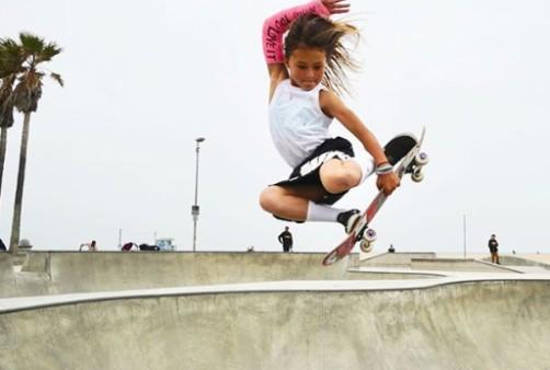 Sky Brown vai disputar a categoria park no skate, com apenas 13 anos (Foto: Reprodução/Instagram)