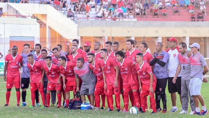 RN - jogadores Potiguar de Mossoró Estádio Nogueirão Série D (Foto: Allan Phablo)
