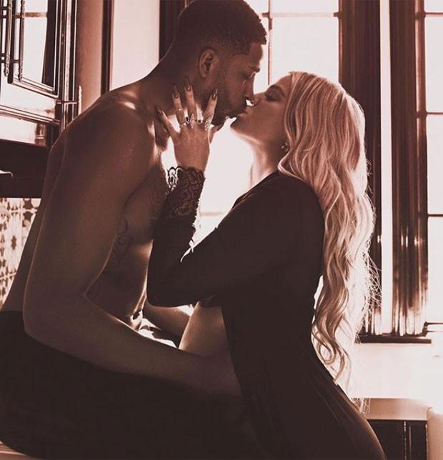 Khloé Kardashian e Tristan Thompson (Foto: Reprodução)