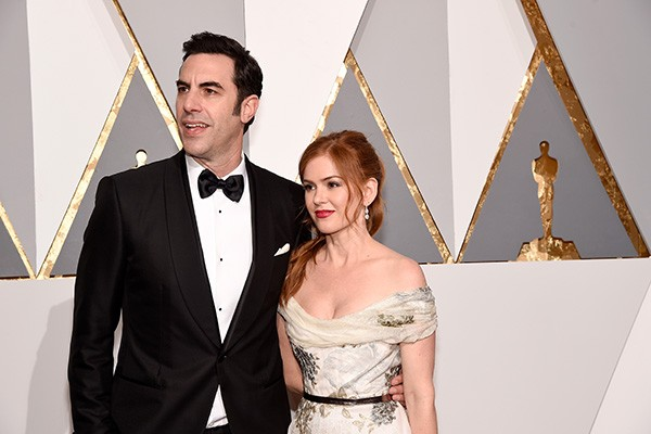 Sacha Baron Cohen  e Isla Fisher (Foto: Getty Images)