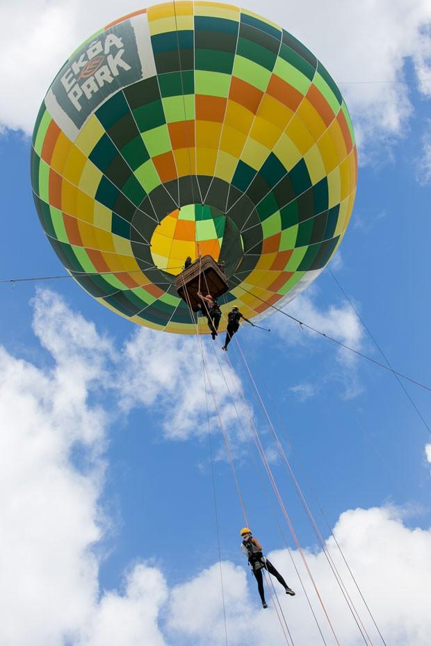 Balão e trilhas na Mata Atlântica são atrações de novo parque ecológico em Morretes (Foto: Divulgação)