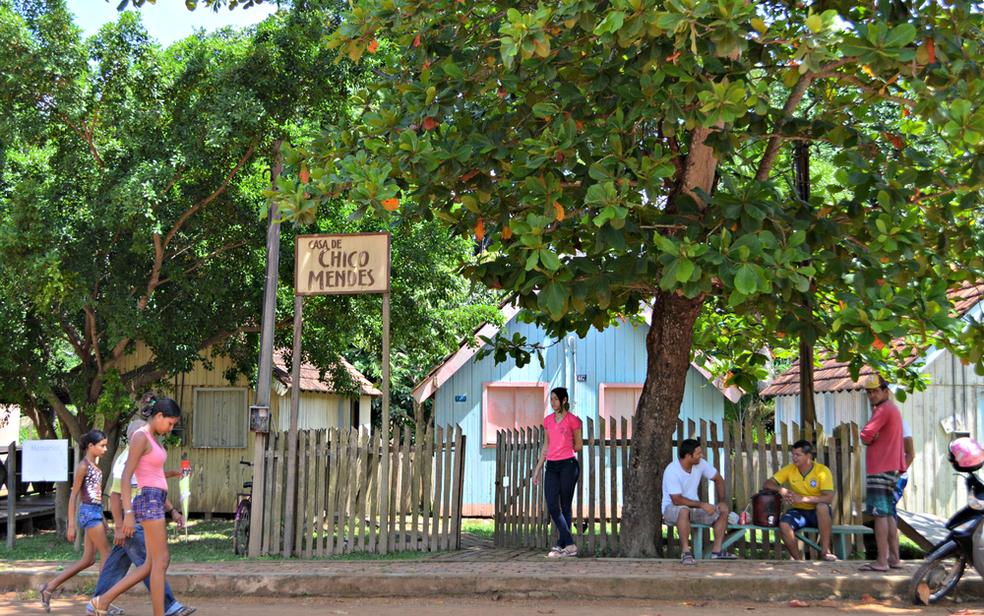 Governo cancelou o contrato de aluguel da casa do Chico Mendes em Xapuri — Foto: Caio Fulgêncio/G1