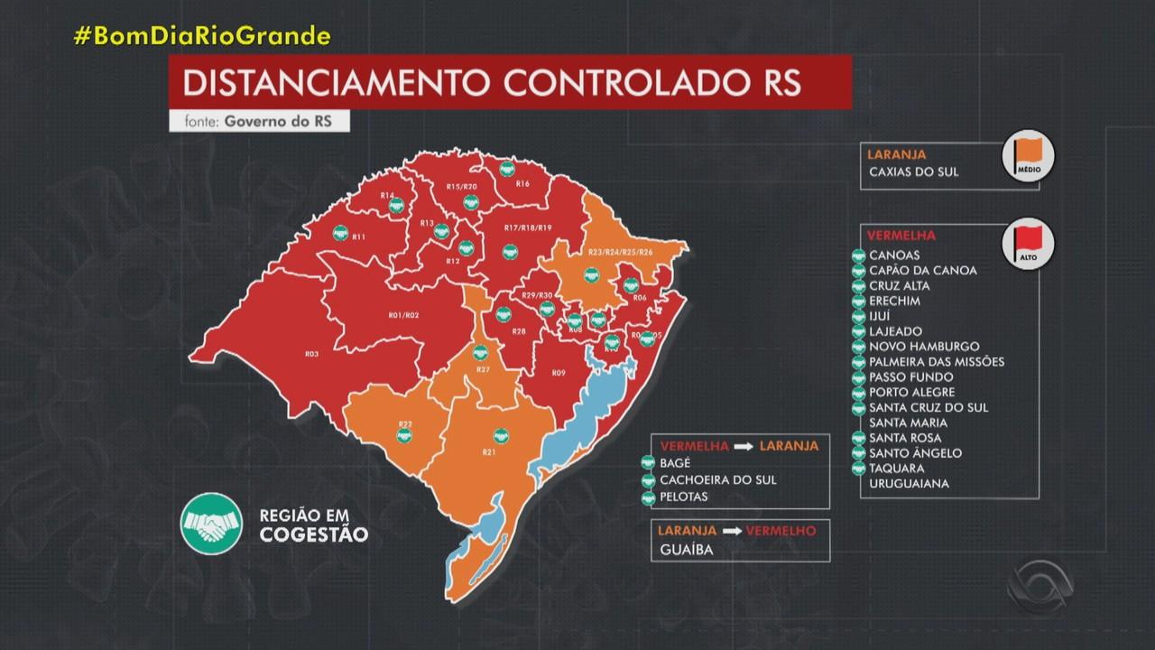 Governo do RS recebe três recursos de regiões em bandeira no mapa de distanciamento
