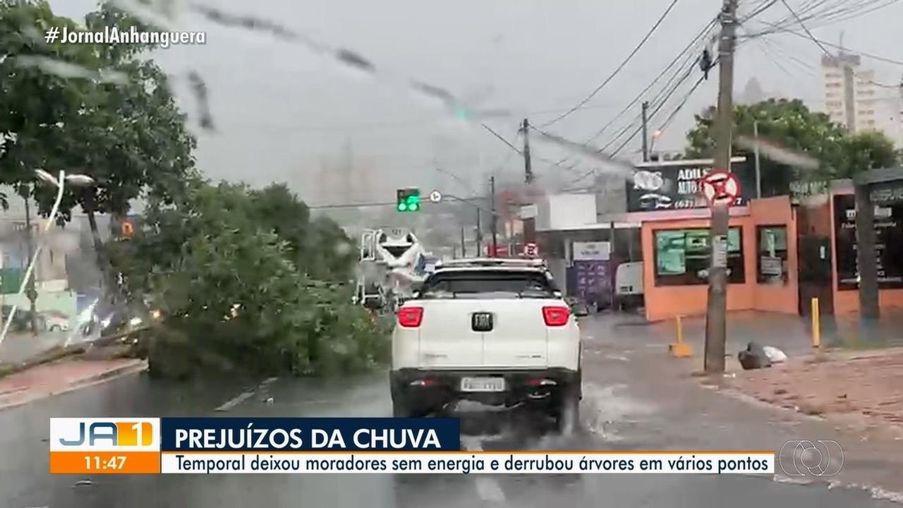 Temporal provoca estragos em Goiânia