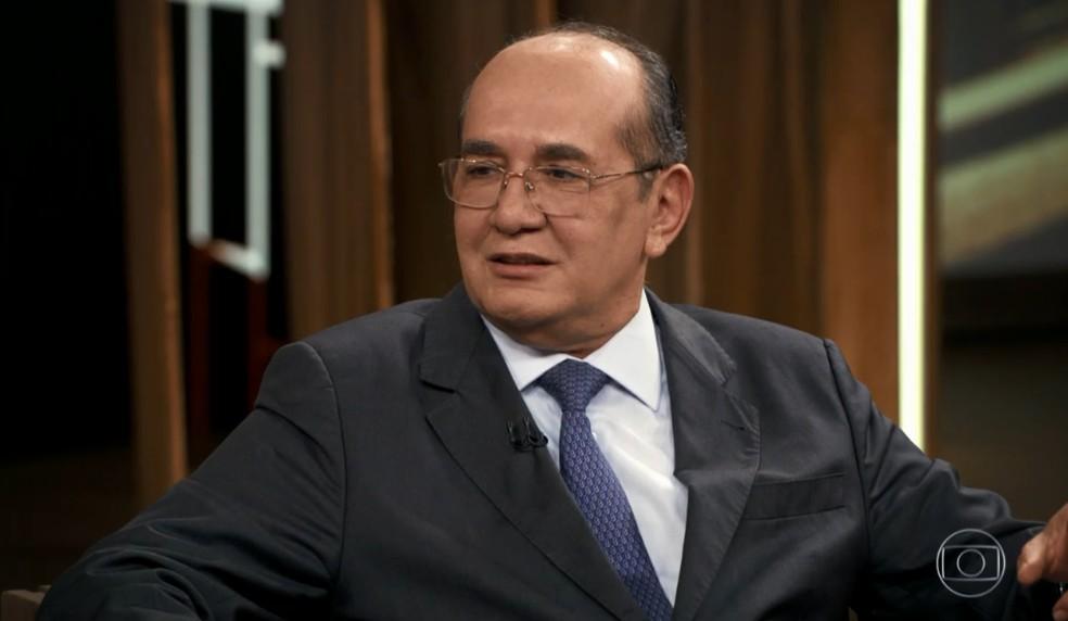 Gilmar Mendes falou sobre habeas corpus  — Foto: Reprodução/TV Globo