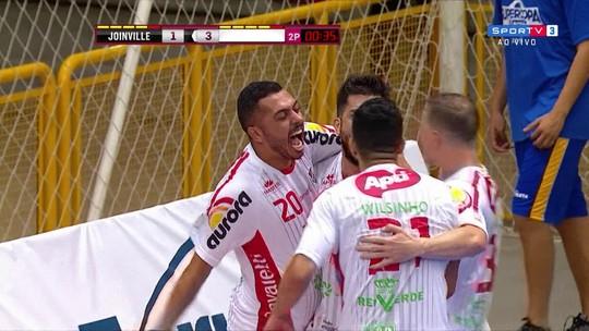 Os gols de Joinville 1 x 3 Atlântico Erechim pela semifinal da Supercopa de Futsal