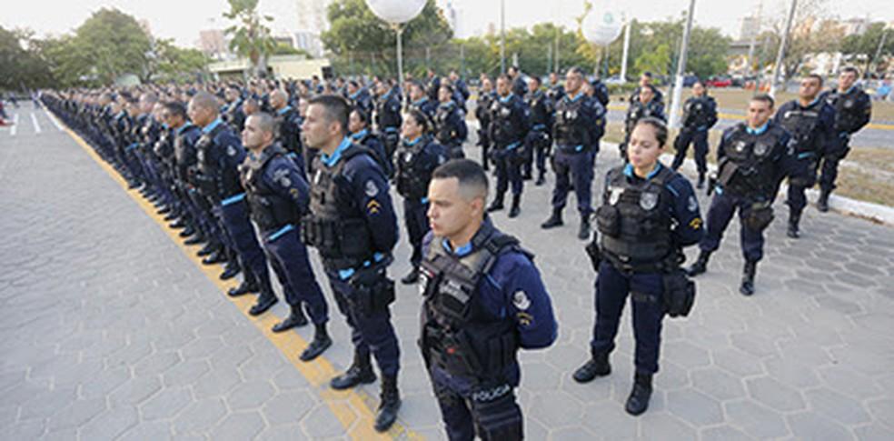 Governo do Ceará lança nova Força Tática da Polícia Militar.  (Foto: Carlos Gibaja e Tiago Stille / Divulgação Governo do Ceará)