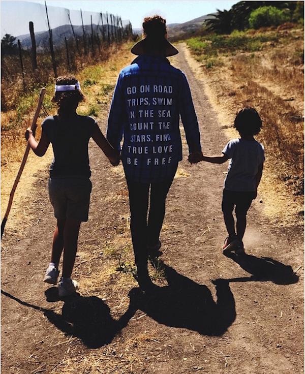 A atriz Halle Berry com os dois filhos (Foto: Instagram)
