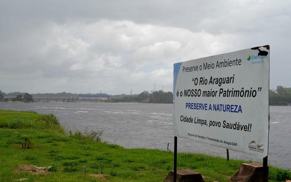 Propostas vão identificar impactos da atividade hidrelétrica no Rio Araguari, no Amapá (Foto: Abinoan Santiago/Arquivo G1)