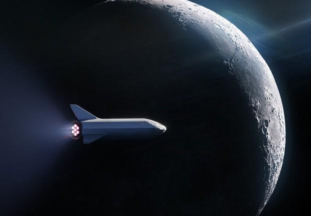 BFR, foguete da SpaceX, empresa de Elon Musk (Foto: Reprodução/SpaceX)