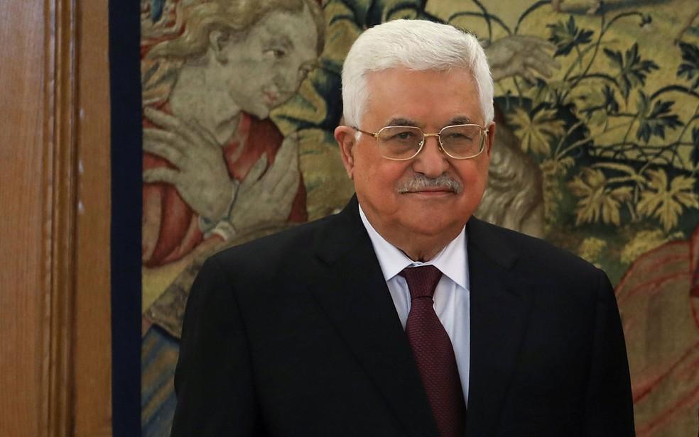 O presidente da Autoridade Palestina, Mahmoud Abbas, durante visita à Espanha, em 20 de novembro  (Foto: Reuters/Sergio Perez)