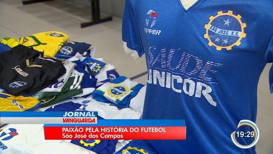 Colecionadores de camisas expõem peças no Museu de Esportes de São José dos Campos