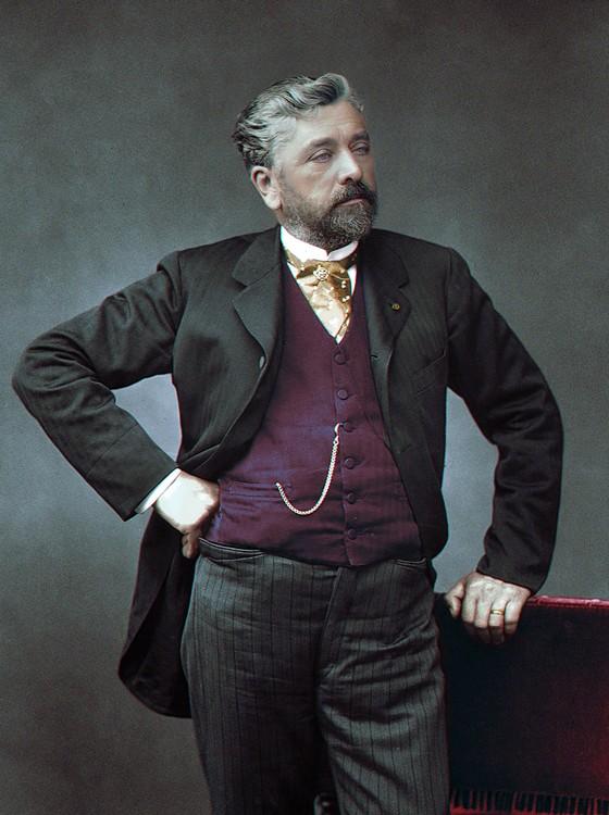 Gustave Eiffel (Foto: COLORIZADAS POR MARINA AMARAL)