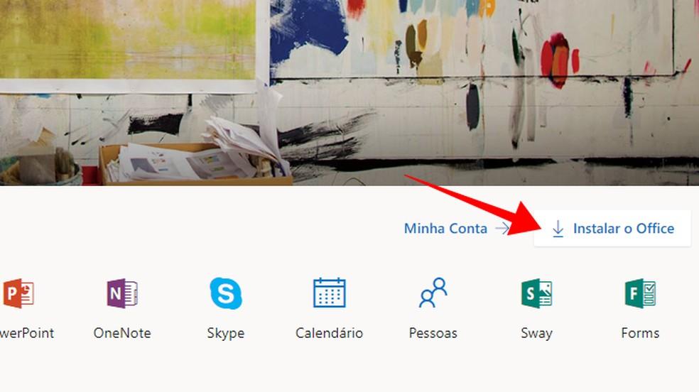 Instale o Office na página office.com — Foto: Reprodução/Paulo Alves