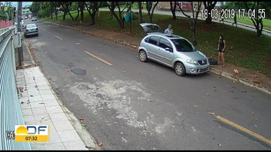 Câmeras de segurança flagram roubo na Candangolândia