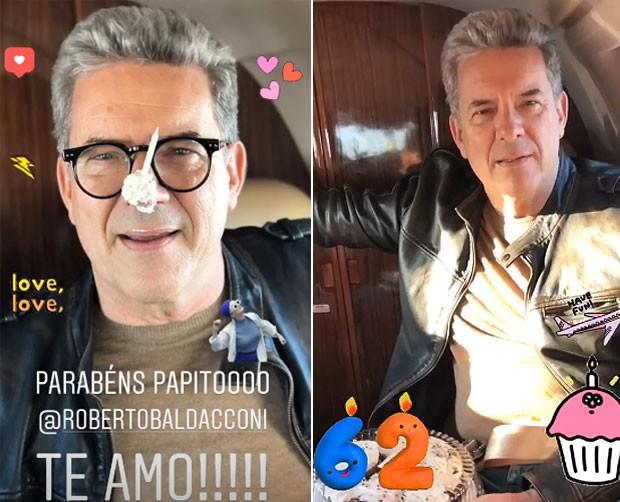 Roberto Baldacconi - ou melhor, 'o avô da Titi' (Foto: Reprodução / Instagram)
