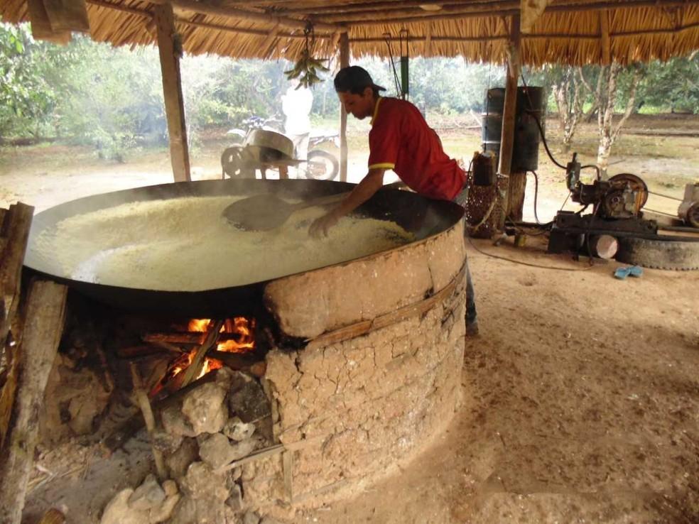 Comunidade vai investir recursos na produção de farinha â?? Foto: Pacto das Águas/Assessoria