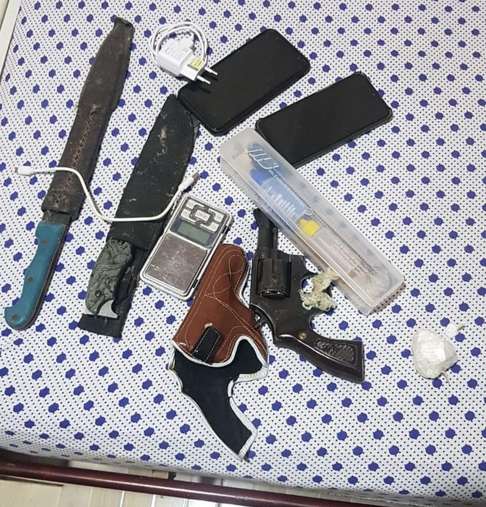 Materiais apreendidos na operação Caterva — Foto: Divulgação/SSP
