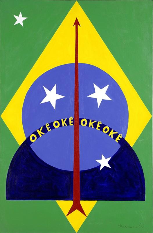 'Okê Oxóssi': Um dos quadros mais famosos de Abdias do Nascimento