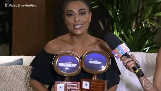 Juliana Paes recebe dois prêmios no 'Troféu Vídeo Show'