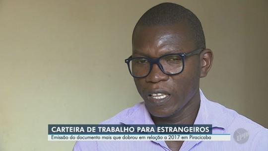 Emissão de carteira de trabalho para estrangeiros aumenta 132% em Piracicaba