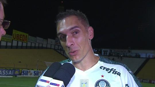 """Gol polêmico contra o Palmeiras em jogo com VAR deixa Fernando Prass """"sem saber o que pensar"""""""