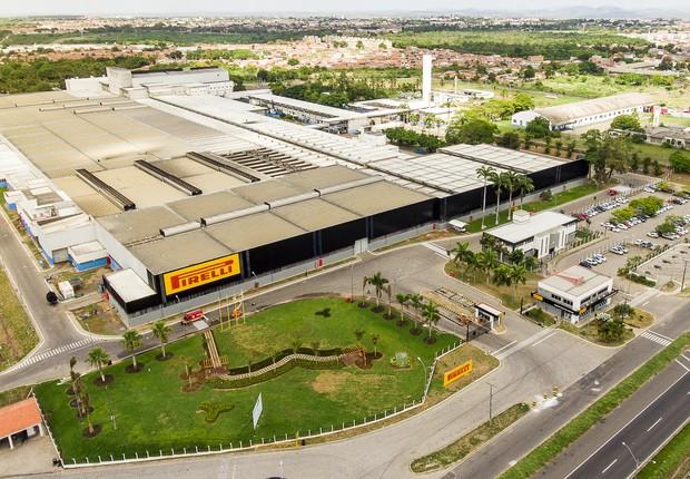 Fábrica da Pirelli em Feira do Santana (BA) (Foto: Divulgação)