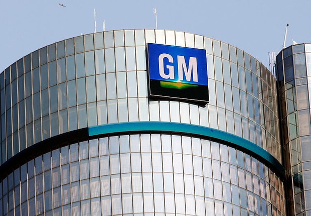 Sede da montadora General Motors (GM) em Michigan (Foto: Bill Pugliano/Getty Images)