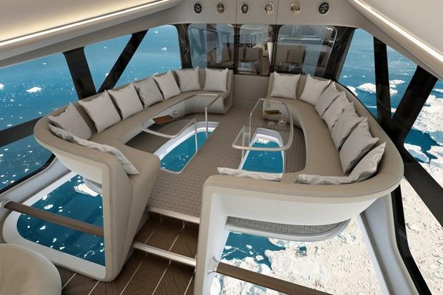 Interior do Airlander 10 (Foto: divulgação)