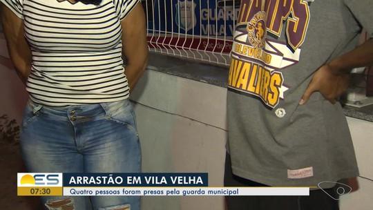Grupo suspeito de arrastão é preso em Vila Velha, ES