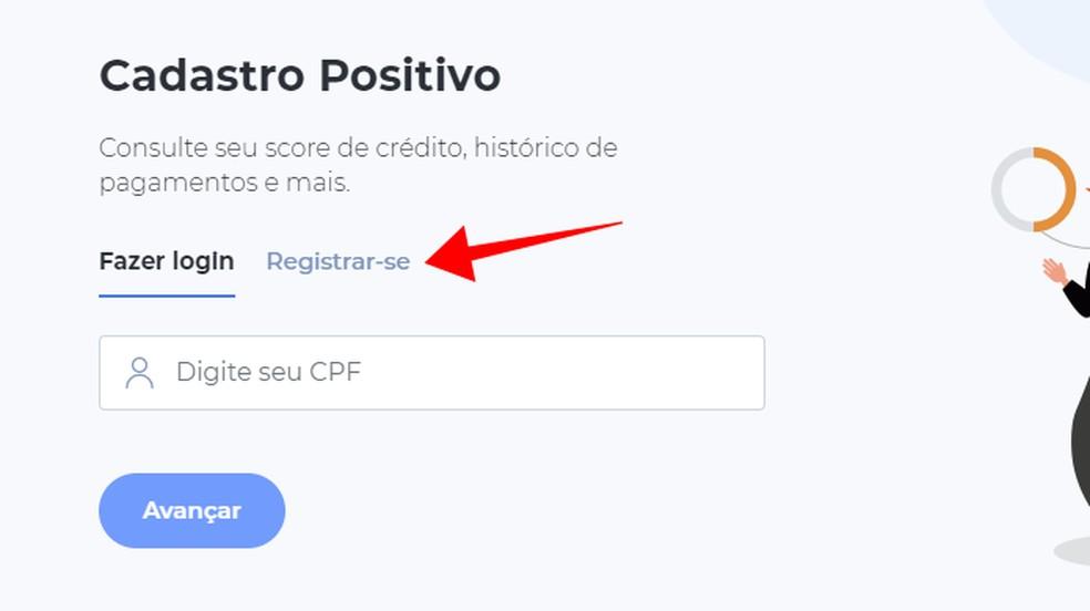 Crie uma conta gratuita na SPC Brasil — Foto: Reprodução/Paulo Alves