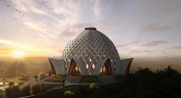 Templo da fé Bahá'í é projetado em Papua-Nova Guiné (Foto: Divulgação)