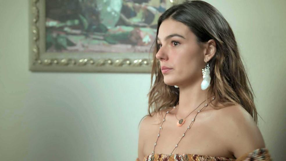 Ritinha está certa de que vai falsificar o exame de DNA — Foto: TV Globo