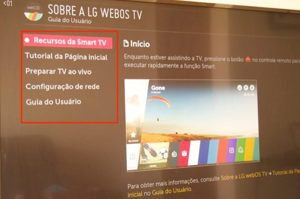 Dicas para usar o sistema WebOS de uma smart TV da LG — Foto: Reprodução/Marvin Costa