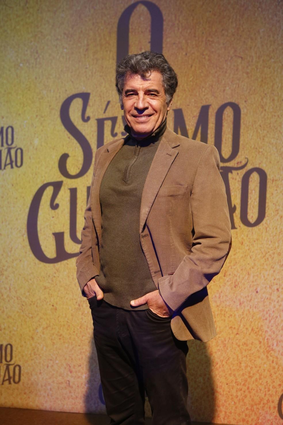 Paulo Betti será Ypiranga Pitiguary, personagem emblemático da novela Indomada que volta em O Sétimo Guardião — Foto: Fabiano Battaglin/Gshow