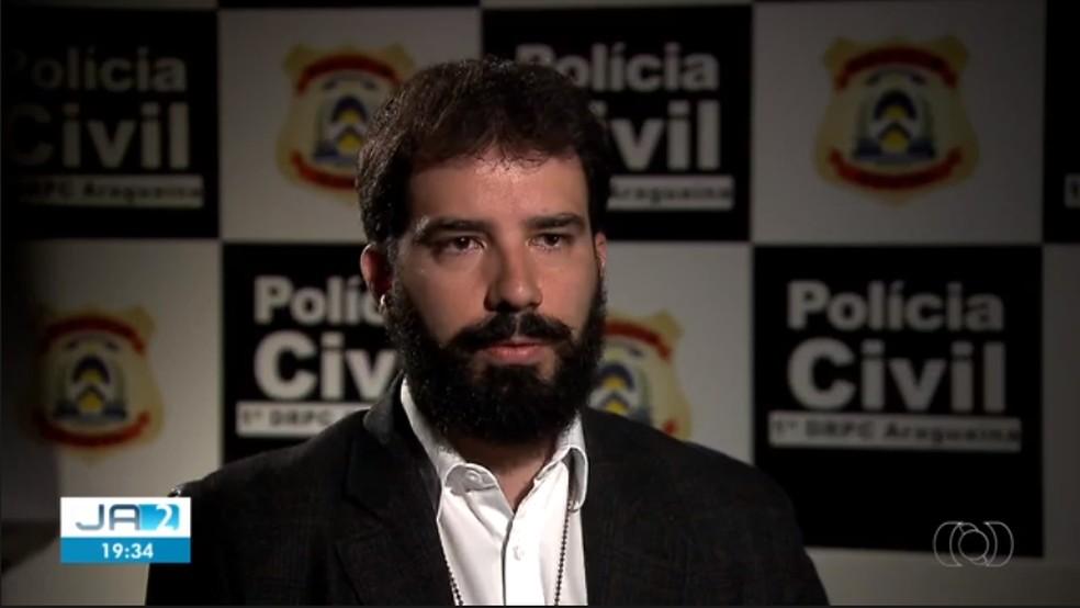 Delegado Bruno foi exonerado do cargo de delegado regional — Foto: Reprodução/TV Anhanguera