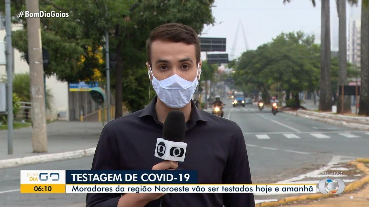 Moradores da região noroeste podem ser testados para Covid-19, em Goiânia