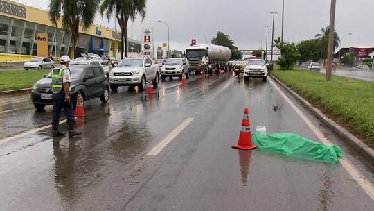 Homem morre após ser atropelado por caminhão na Epia Sul, no DF