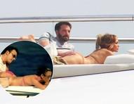 Jennifer Lopez e Ben Affleck trocam carícias em barco e 'recriam' cena de clipe